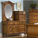 Vaughan Furniture Southern Heritage Chesser and Mirror  - Item Number: 327-04B+04M+04P