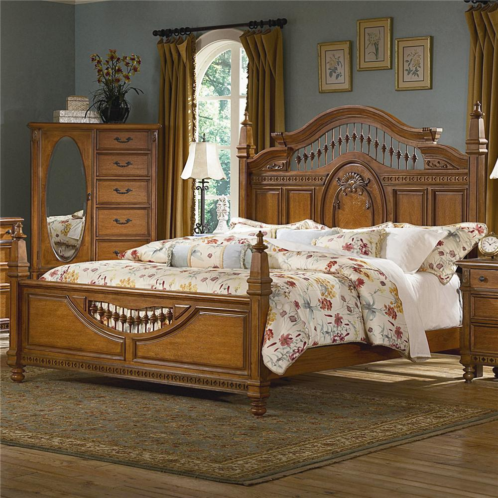 Vaughan Furniture Southern Heritage King-Size Spindle Headboard ...