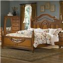 Vaughan Furniture Southern Heritage King Spindle Bed - Item Number: 327-32H+32F+31R