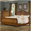 Vaughan Furniture Southern Heritage King Sleigh Bed - Item Number: 327-34H+34F+33R