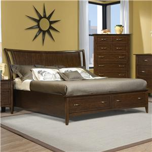 Vaughan Furniture Stanford Heights Complete Queen Storage Bed