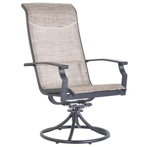Veranda Classics by Foremost Harrison Sling Swivel Rocking Dining Chair