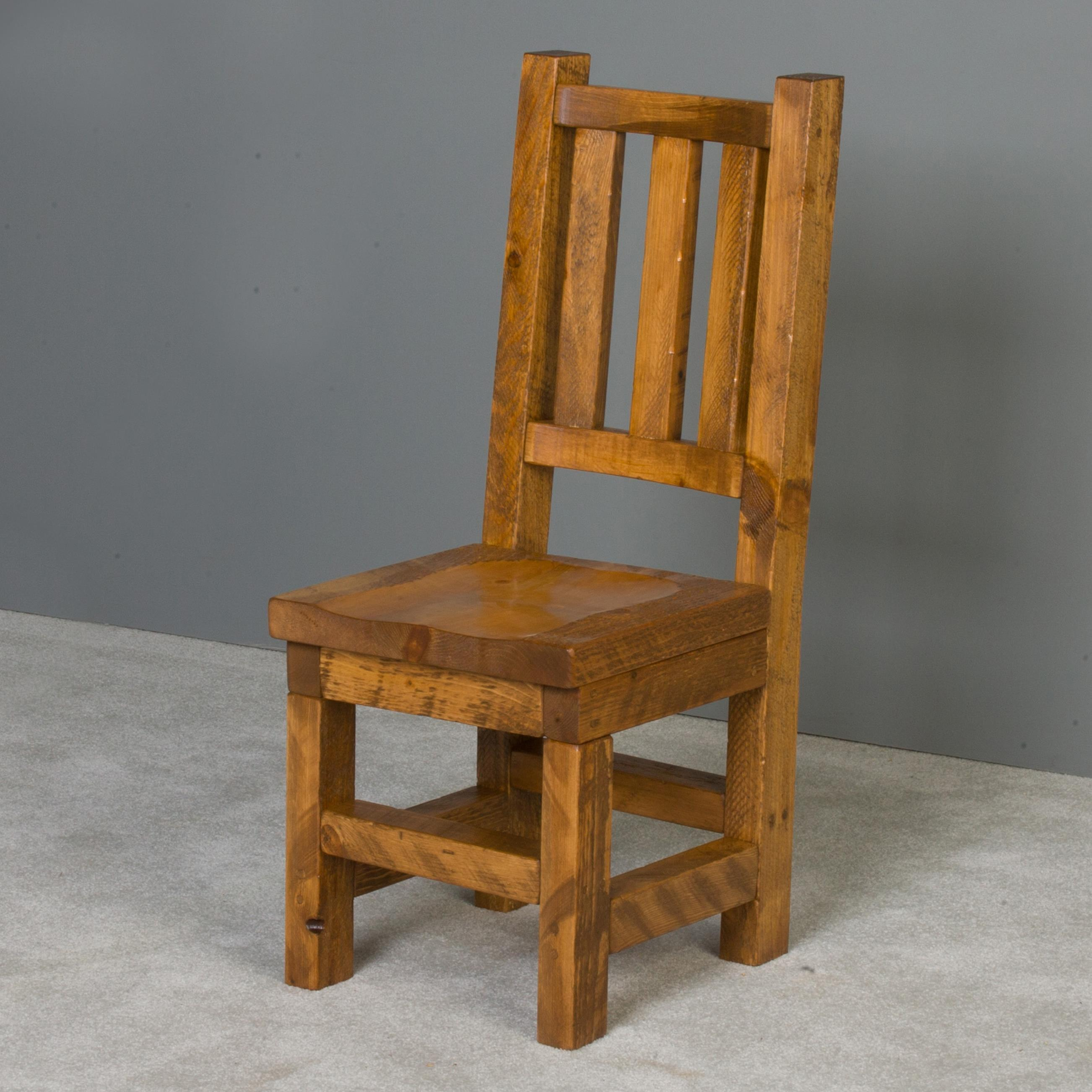 NorthShore by Becker Barnwood Trestle Chair with Wood Seat - Item Number: NBHVT91