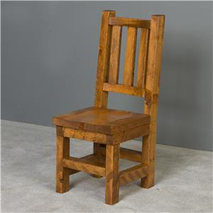 NorthShore by Becker Barnwood Trestle Chair with Wood Seat