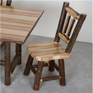 NorthShore by Becker Hickory Saddle Seat Dining Chair