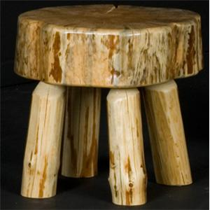 NorthShore by Becker Home Office Log Sitting Stool