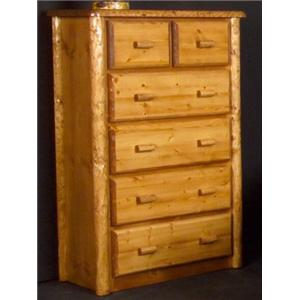 NorthShore by Becker Log Furniture Northwoods Six Drawer Chest