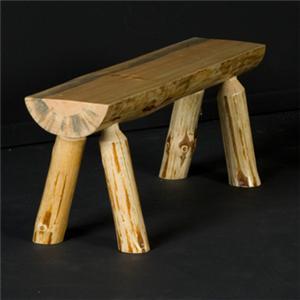 """NorthShore by Becker Log Furniture 48"""" Half Log Bench"""