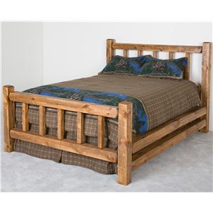 NorthShore by Becker Log Furniture Queen Barnwood Little Jack Bed
