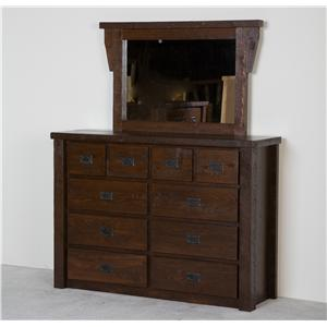 NorthShore by Becker Log Furniture Barnwood Chesser with Mirror