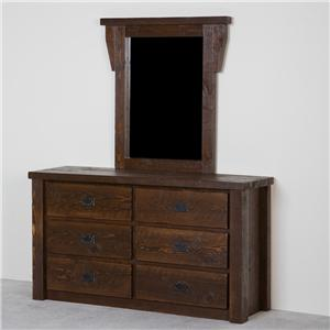 NorthShore by Becker Log Furniture Dresser with Mirror
