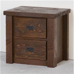 NorthShore by Becker Log Furniture Two Drawer Night Stand