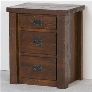 NorthShore by Becker Log Furniture Three Drawer Night Stand