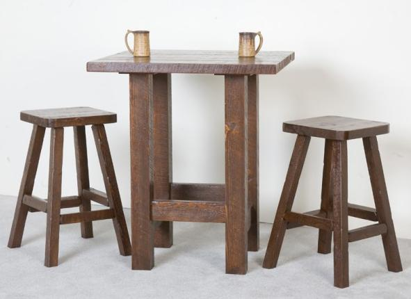NorthShore by Becker Log Furniture Northwoods Pub and Stool Set - Item Number: NBWVPT+2xT1
