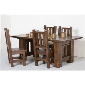 NorthShore by Becker Log Furniture Barnwood Dining Table and Chair Set