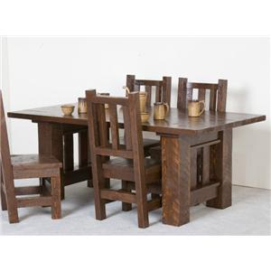 NorthShore by Becker Log Furniture Barnwood Dining Table