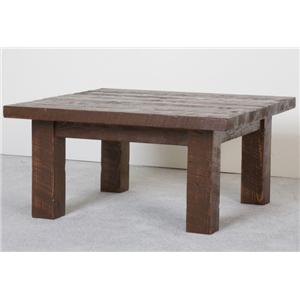 NorthShore by Becker Log Furniture Barnwood Square Coffee Table
