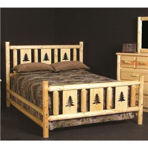 NorthShore by Becker Log Furniture Queen Montana Log Bed