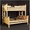 NorthShore by Becker Log Furniture Twin/Full Bunk Bed - Item Number: NSBBTF