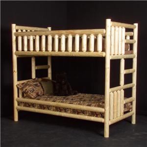 NorthShore by Becker Log Furniture Full/Full Log Bunk Bed