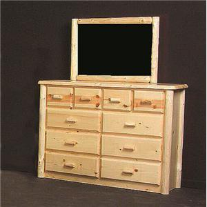 NorthShore by Becker Log Furniture Northwoods Ten Drawer Chesser and Mirror