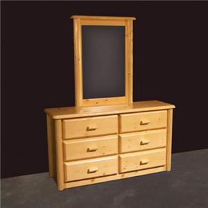 NorthShore by Becker Log Furniture Northwoods Six Drawer Dresser and Mirror