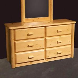 NorthShore by Becker Log Furniture Northwoods Six Drawer Dresser