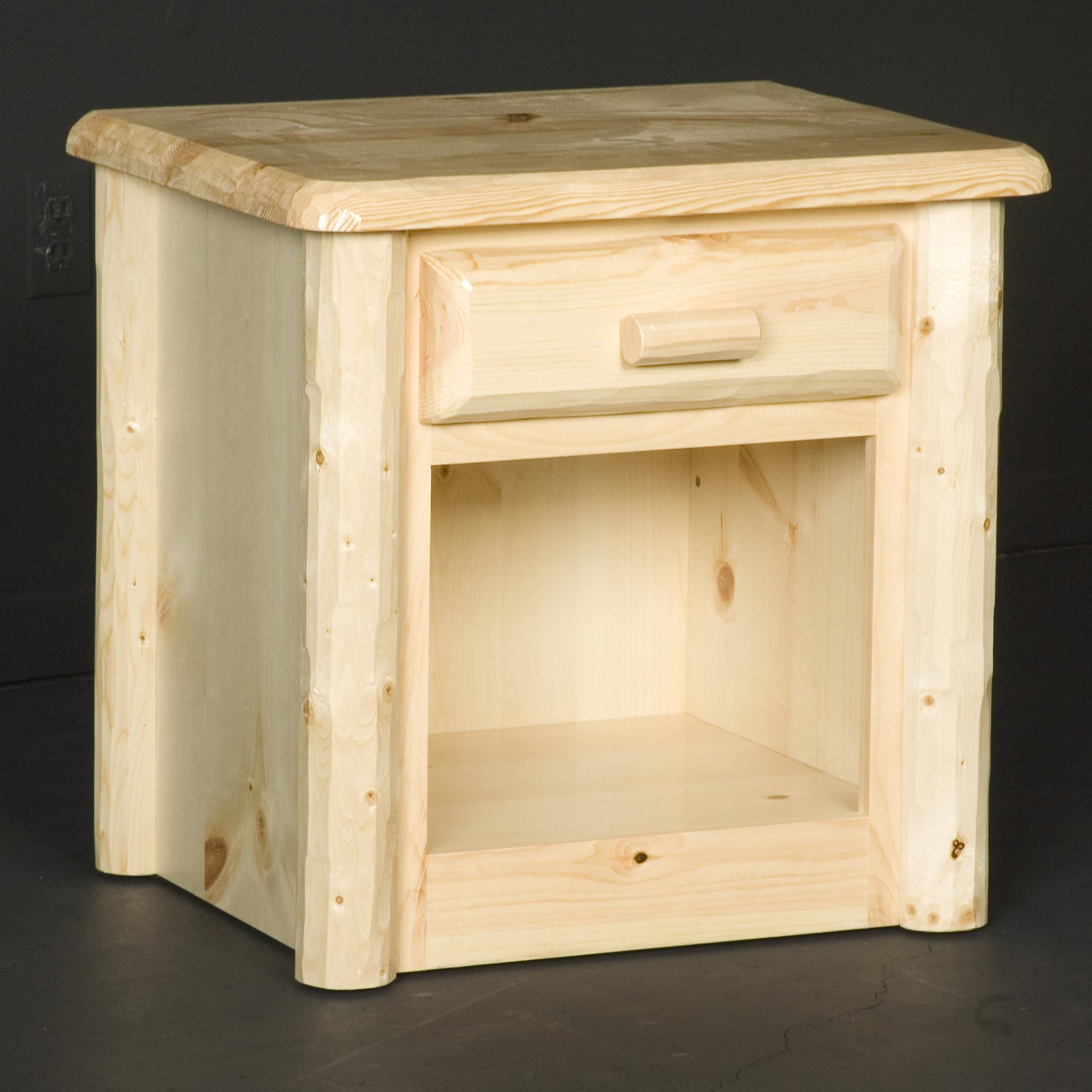 NorthShore by Becker Log Furniture 1 Drawer Nightstand - Item Number: NW1NS1D