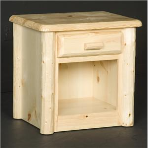 NorthShore by Becker Log Furniture 1 Drawer Nightstand