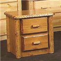 NorthShore by Becker Log Furniture Northwoods Two Drawer Nightstand - Item Number: NW2NS2
