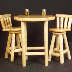 NorthShore by Becker Log Furniture Log Pub Table