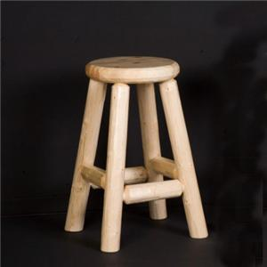 "NorthShore by Becker Log Furniture 24"" Counter Height Log Pub Stool"
