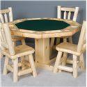 NorthShore by Becker Log Furniture Log Poker Table - Item Number: NWS PTSPK+B