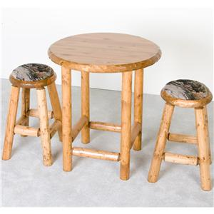 NorthShore by Becker Log Furniture Pub Table and Upholstered Stools