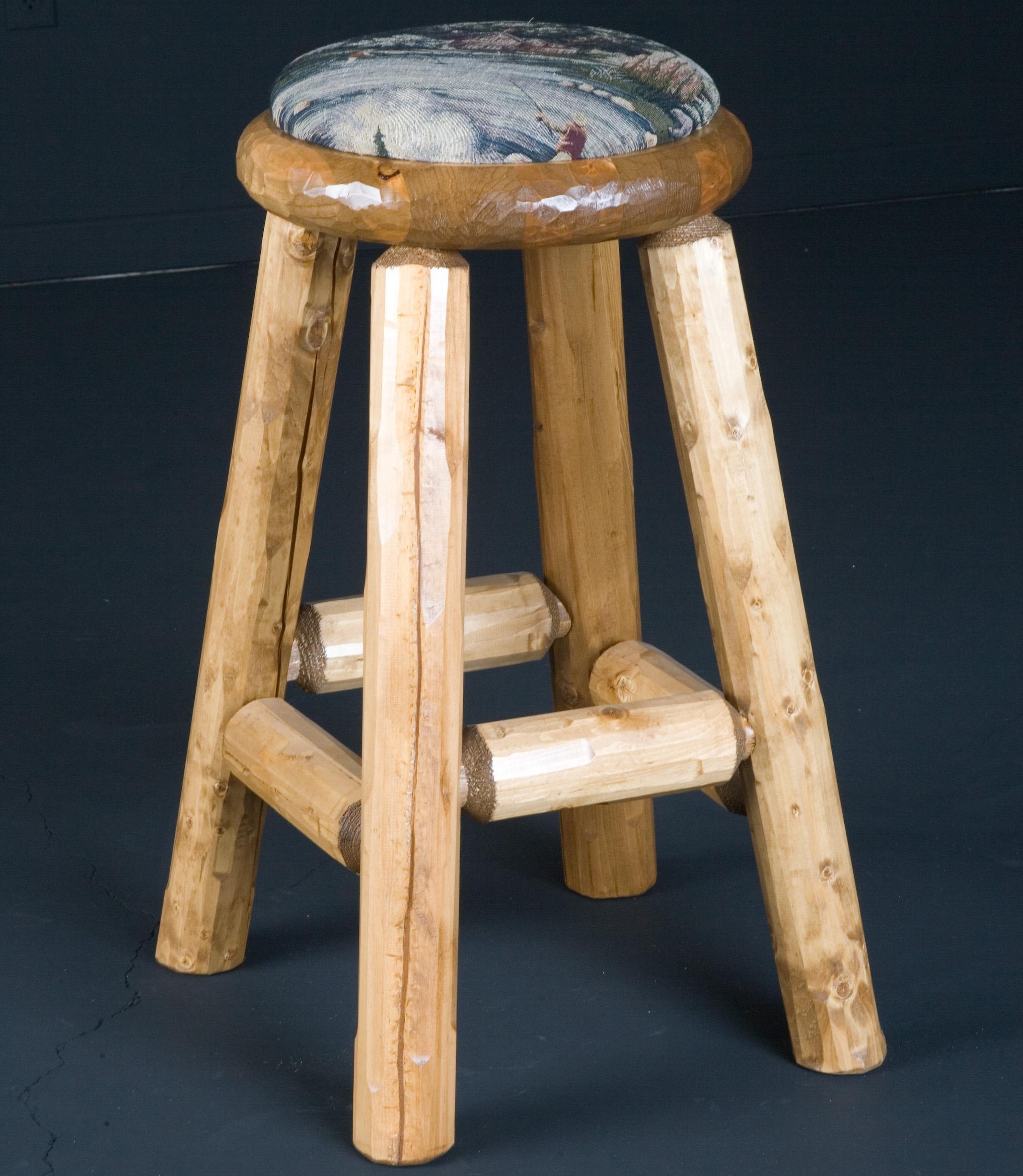 "NorthShore by Becker Log Furniture 30"" Pub Stool Upholstered - Item Number: NWSPAC1"