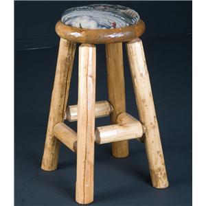 "NorthShore by Becker Log Furniture 30"" Pub Stool Upholstered"