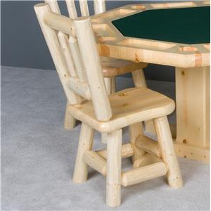 NorthShore by Becker Log Furniture Log Dining Chair with Wood Saddle Seat