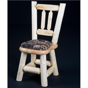 NorthShore by Becker Log Furniture Log Dining Chair w/ Cushioned Seat