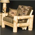 NorthShore by Becker Wilderness Rustic Futon Chair with Exposed Wood Frame