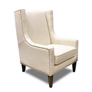 Villa Home Collection Erie Club Chair Erie Ivory Club Chair
