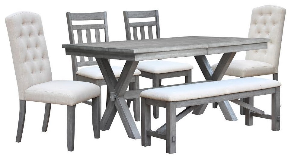 6pc Table Set with Bench