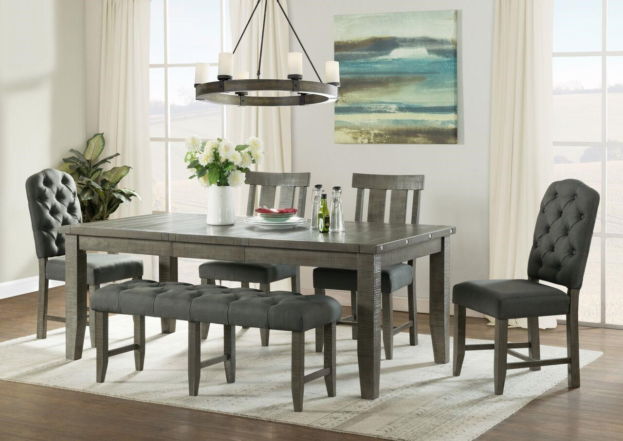 Vilo Home Industrial Charm Vh3800 6pc Dining Set With Bench