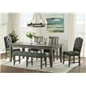Vilo Home Industrial Charm 6pc Dining Set with Bench - Item Number: VH3800