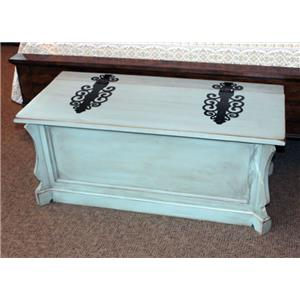 Vintage Accents Antique Blue Claudia Hinge Trunk