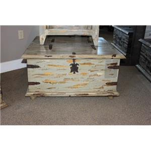 Vintage Accents Grey Blanc Double Lid Trunk