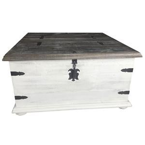 Double Lid Trunk Cocktail Table