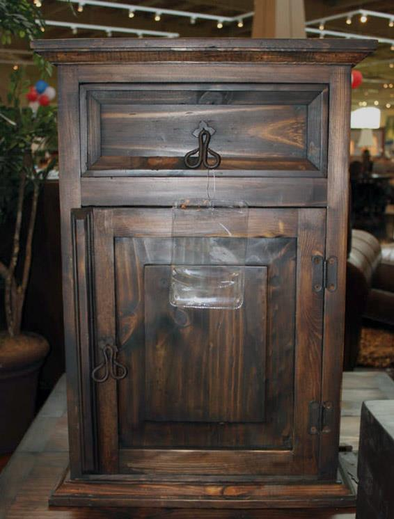 Vintage Accents Dark Stain Accent Table - Item Number: BUR1-DS