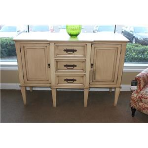 Vintage Accents Antique Cream Buffet on Legs