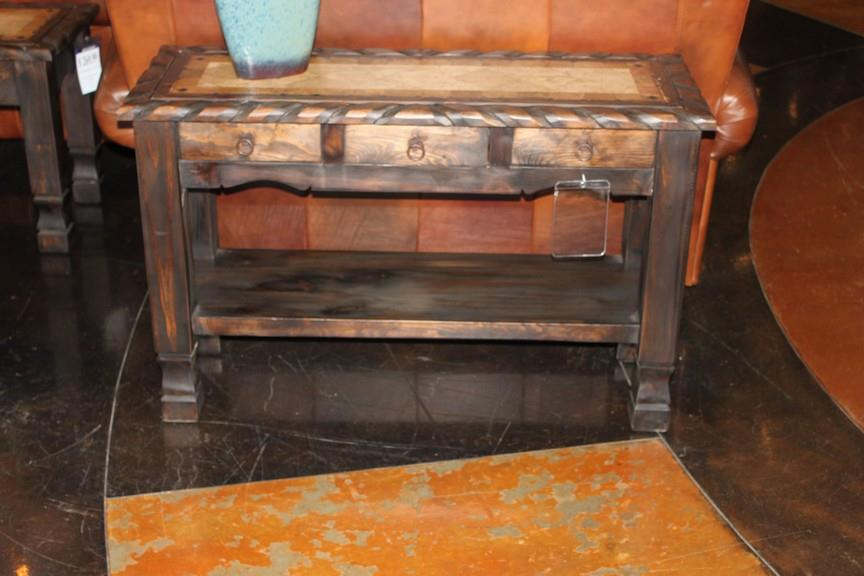 Vintage Accents Travertine Top Sofa Table - Item Number: CON-JRS-DS