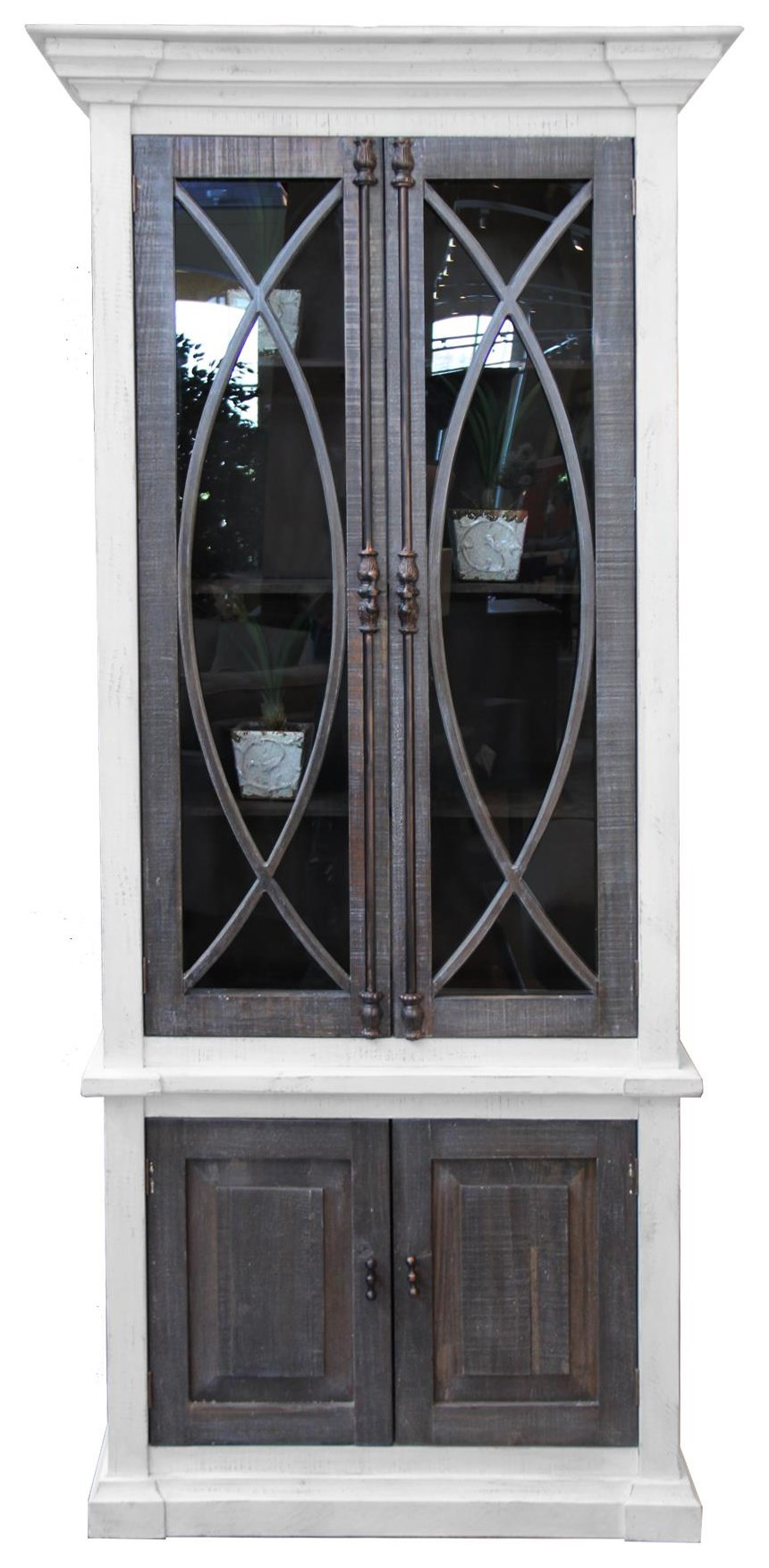 Vintage Accents Madrid Cabinet - Item Number: F-JON877-GTF NW BW